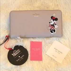 Disney Kate Spade Minnie Mouse Zip Wallet NWT!!